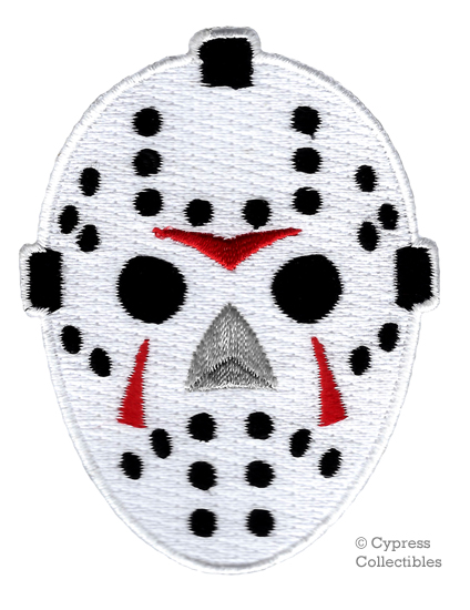 Friday the 13th JASON Mask Logo Embroidered PATCH