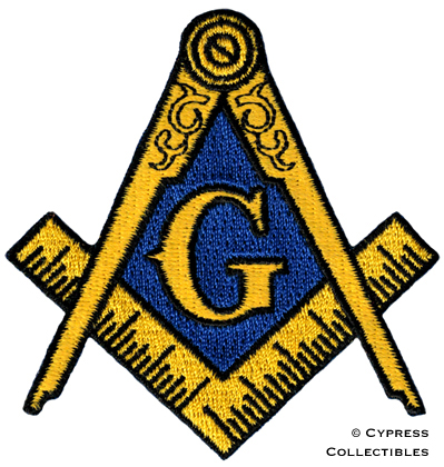 Masonic Logo Embroidered Patch Iron On Freemason Square Compass